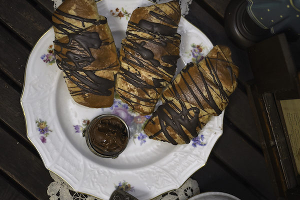 Félbarna Vajas Leveles Bionellás Croissant 0,1kg/db