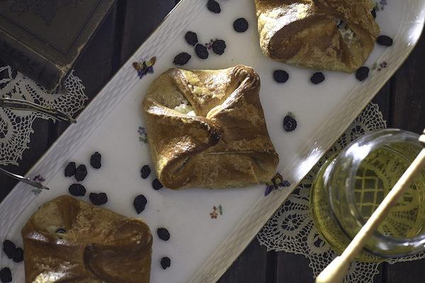Halbweisse Butter und Quark Blätterteiggebäck